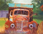 Old Interntational Pickup Truck Note Card