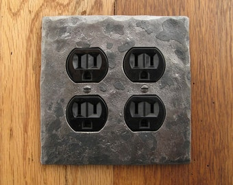 Hammer Textured Double Plug/Outlet Wall Plate