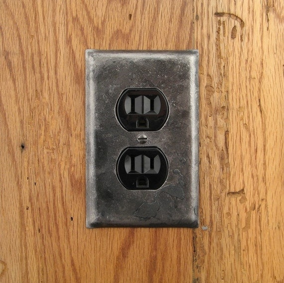 Switch Plate Fire Cooked Wrought Iron Single Plug
