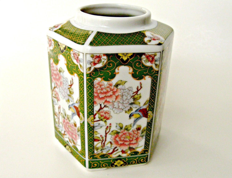 Vintage Ginger Jar Japanese Porcelain Ginger Jar 6 Sided