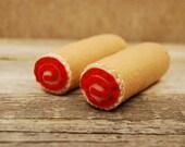 Felt Food Strawberry Rolls