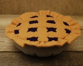 Felt Food Blueberry Pie