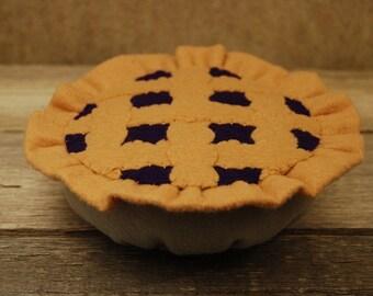 Felt Food Blueberry Pie