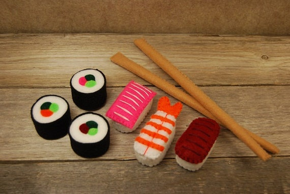 SALE - Felt food sushi set