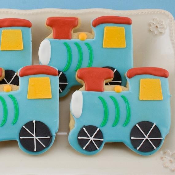 Choo Choo Train Sugar Cookies (12 favors)