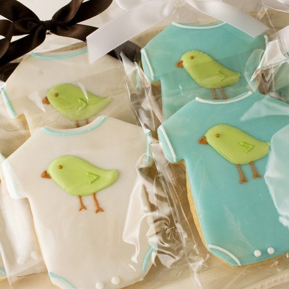Tweet Tweet Lil' Bird Onesies - SMALLER SIZED (12 Favors, Bagged and Bowed)