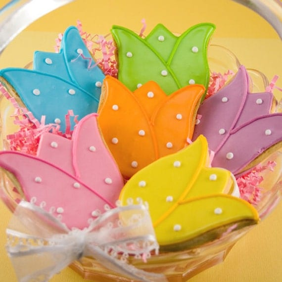 Tulip Sugar Cookies, Easter (12 cookies, individually sealed - not ...