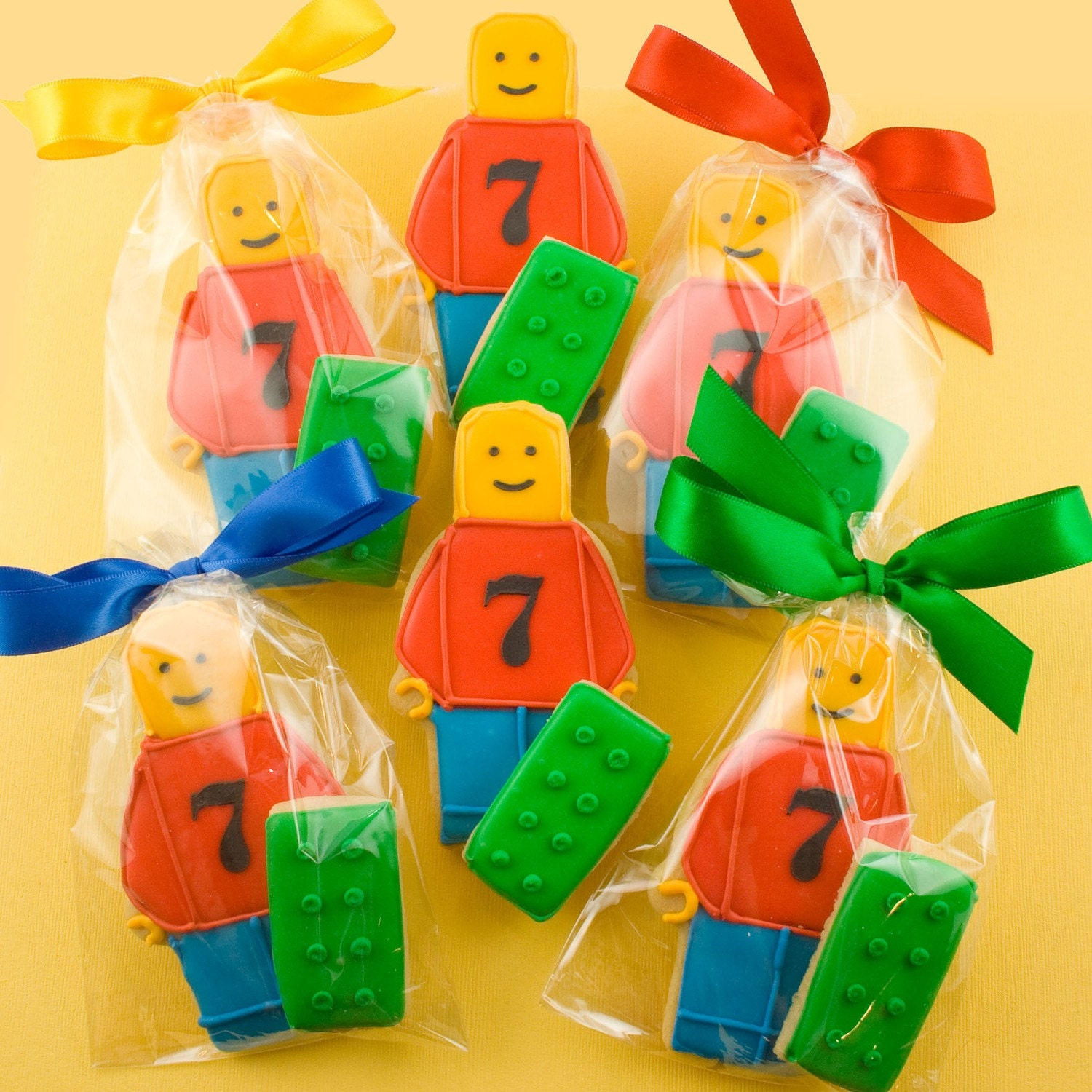 Lego Cookies Party Gift Sets 12 Lego Guys And 12 Lego