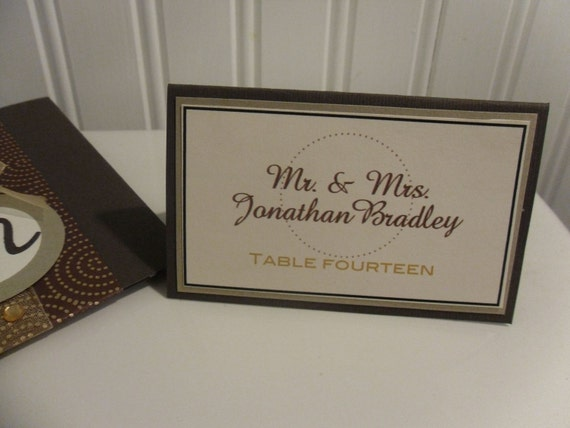 Golden Autumn Customizable Favor Tags and Place Cards (Sample Preview)