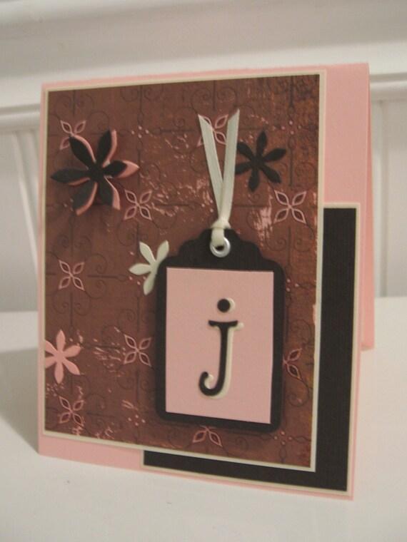 Jessica Initial Note Card - J
