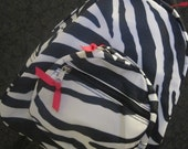 Personalized Boutique Mega Zebra Print Toddler/Kid Backpack/Diaperbag
