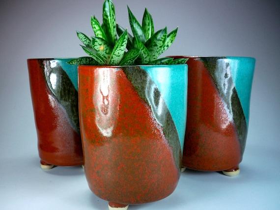 sale flower pot tall ceramic planter handmade stoneware