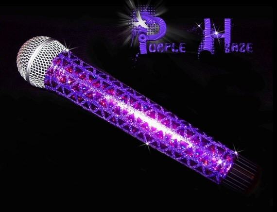 BLING  MICROPHONE COVER (Purple Haze) for Cordless Microphones