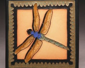 Twilight Dragonfly 8x8 - Made to Order