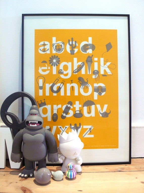 A to Z \/\/ Alphabet \/\/ ABC \/\/ screen print poster