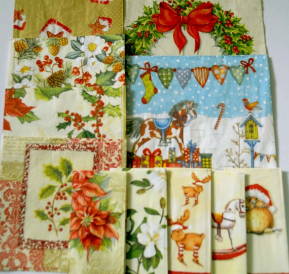 Paper Napkins For Decoupage Christmas