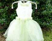 Light Yellow Green dress 12-24 months-- on sale