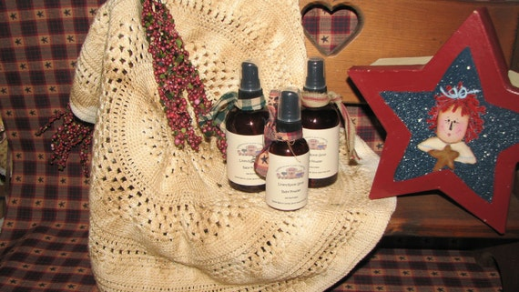 Linen Room Spray 4 oz bottle  Check out our scent list