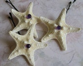 Amethyst Stars - Starfish  Bobby Pins