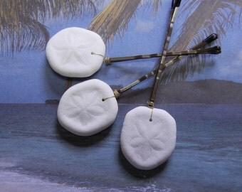 Sand Dollar Bobby Pins