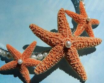 Sugar Starfish Headband - Pearly Sugar Star Starfish Pearl Headband