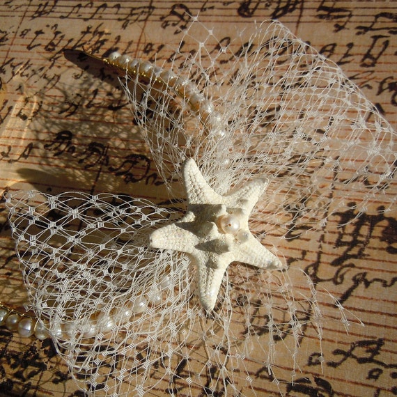 Starfish Headband - SeaStar Bow Starfish and Pearl Headband