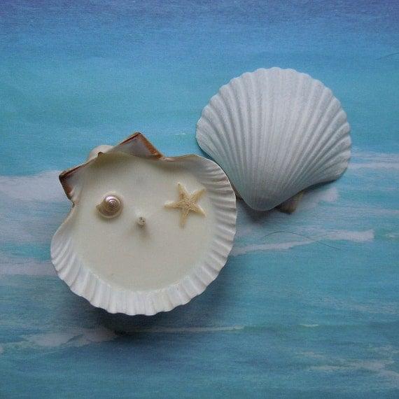 Mermaids Tide Pool Soy Wax Seashell Candle