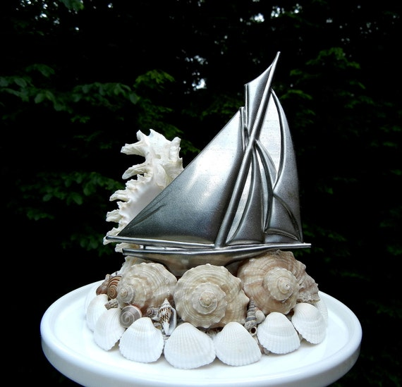 Wedding Cake Topper Seashell Starfish Wedding Cake Topper - Riding the Waves