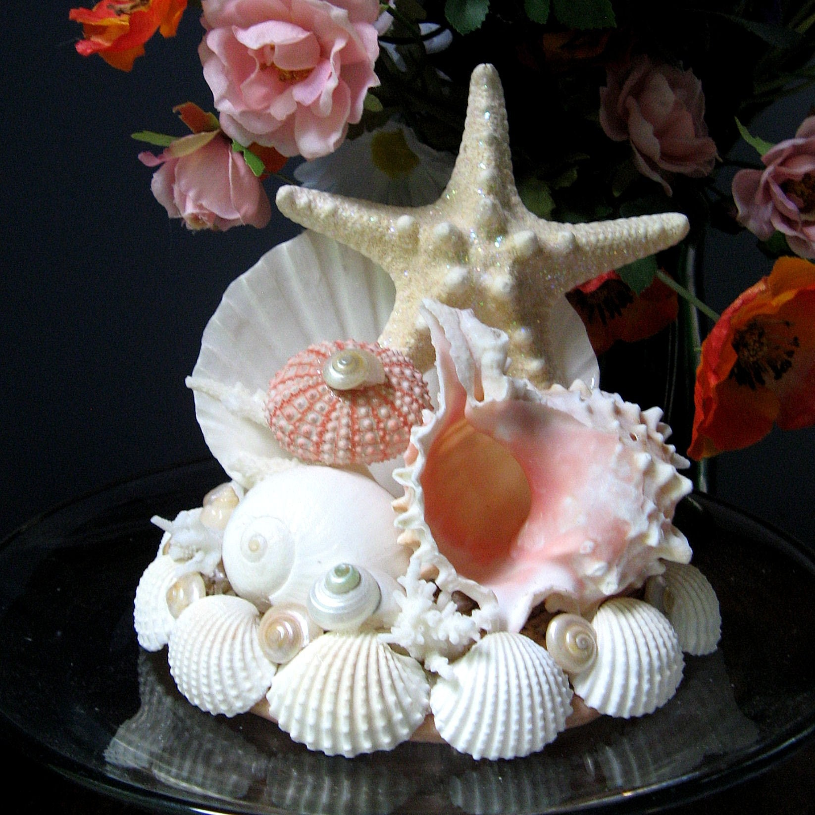 starfish wedding cake toppers
