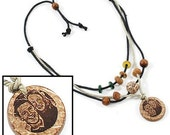 Jewelry, Eco-Friendly, Necklace, Coconut Shell, Natural, Hand Crafted, Personal Engraving