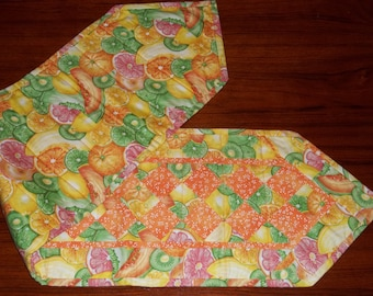 Citrus Fruit Quilted Table Runner