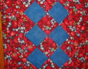 SALE - Berries Quilted Table Runner