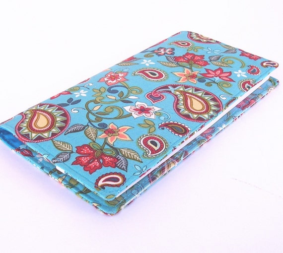 Fabric Cheque Book Cover ~ Fabric checkbook cover for duplicate checks by mitsuyoday