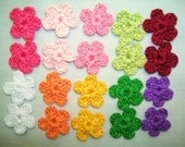 20 Crochet  Small   Flowers  Appliques/Cards/Scrap booking/Crafts