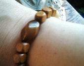 Wooden Gypsy Beaded Bracelet