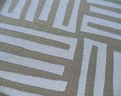 TRIBAL WEAVE printed white on sand