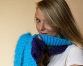 HOLIDAY SALE - Bright blue scarf
