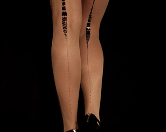 Holiday sale Charleston sheer nude tights available in S-M, L-XL