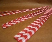 FREE SHIPPING with another item Cute Red Stripes Twisters (set of 25)