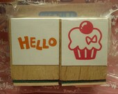 Cute Hello Cupcake Stamps (set of 2)