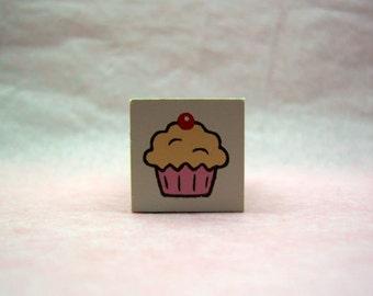 Cute Cupcake rubber stamp