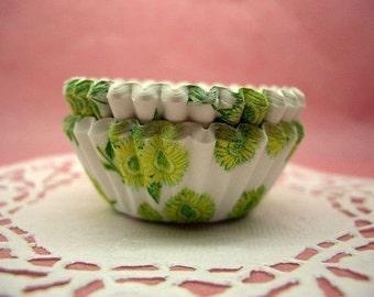 Cute Sunflowers mini cupcake cups (set of 50)