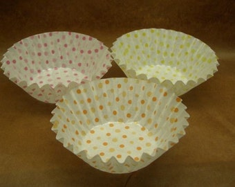 Cute Pastel Polka Dots Round 1 1/2-inch candy cups (set of 40)