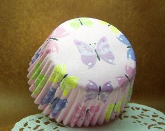 Cute Butterflies 2-inch cupcake cups (set of 50)