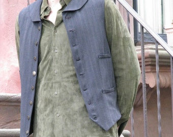 Victorian Wool Vest--Custom Made in Your Size