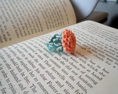Coral Mum Ring - FREE Shipping