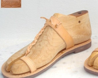 Greek Roman leather sandals for men