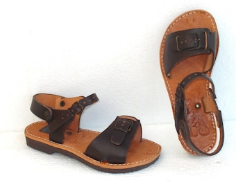Handmade Roman children leather Sandals from Greece