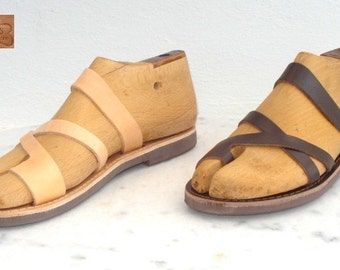 ANANIAS Greek Grecian Roman handmade leather Sandals from Greece
