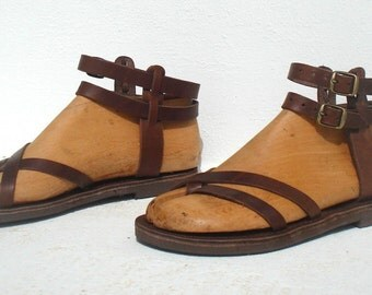 ANANIAS Roman Greek gladiator leather sandals